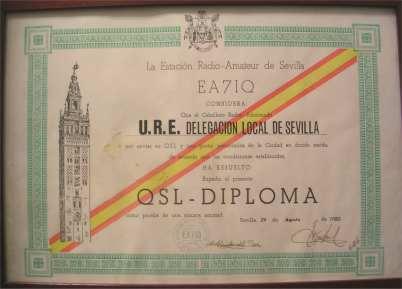 Diploma QSLSevilla de EA7IQ