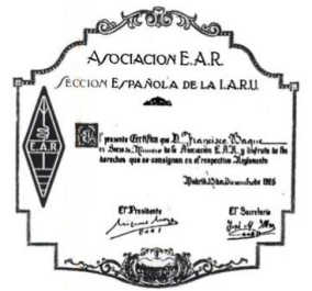 Título de Socio de la E.A.R.